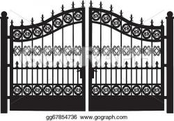 Gate clipart garden plot