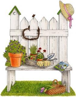 Gate clipart gardener