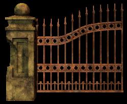 Graveyard clipart metal fence