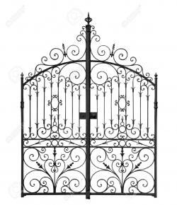 Gate clipart graveyard