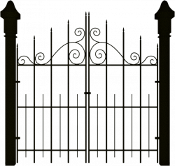 Gate clipart haunted