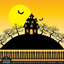 Gate clipart haunted house