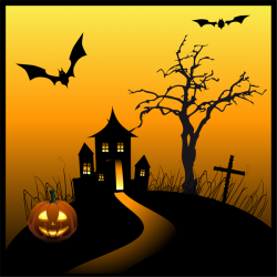 Haunted clipart spooky house