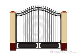 Gate clipart house gate