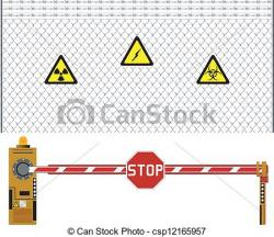 Barrier clipart security gate