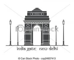 Place clipart india gate