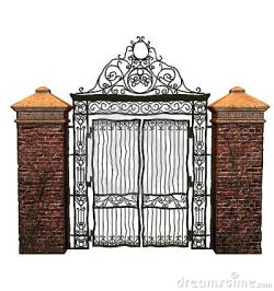 Graveyard clipart cemetery gates