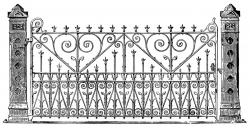 Victorian clipart fence
