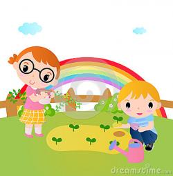 Gate clipart kid garden