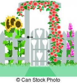 Gate clipart open garden