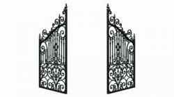 Gate clipart open gate
