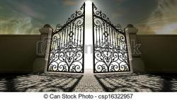 Gate clipart open heaven