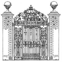 Gate clipart ornate
