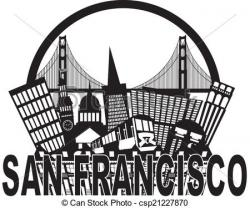 Golden Gate clipart san francisco skyline