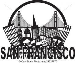 Golden Gate clipart san francisco skyline
