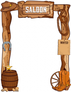 Wild West clipart the word