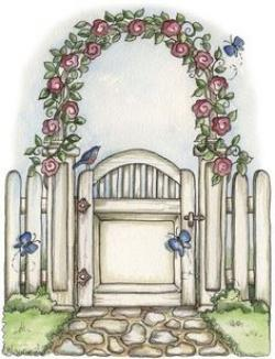 Gate clipart sunflower garden
