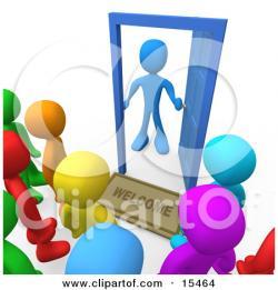 Open Door clipart welcome mat