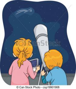 Night Sky clipart telescope star