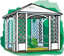 Gazebo clipart cartoon