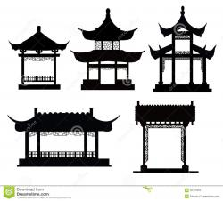 Pagoda clipart chinese building