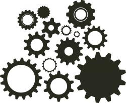 Steampunk clipart cog gear