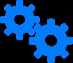 Gears clipart blue gear