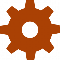 Gears clipart brown