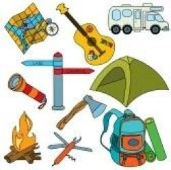 Camp Fire clipart camping gear