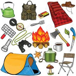 Hiking clipart camping gear