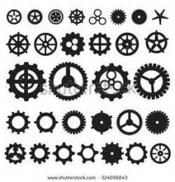 Clockworks clipart many gear