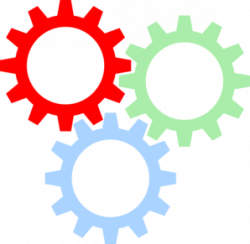 Gears clipart colorful