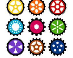 Gears clipart graphic