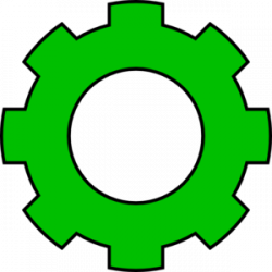 Gears clipart green