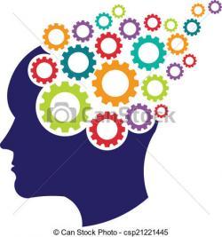 Gears clipart head brain