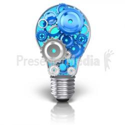 Gears clipart light bulb