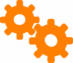Gears clipart orange