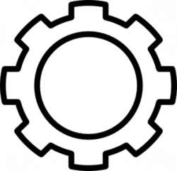 Gears clipart outline