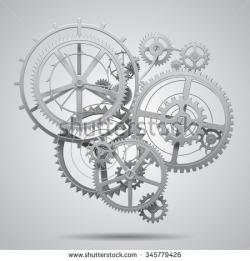 Clockworks clipart pulley gear