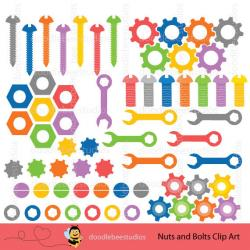 Robot clipart nuts and bolt