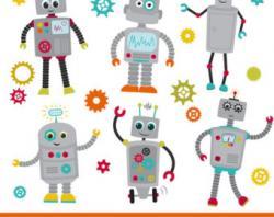 Robot clipart robot gear