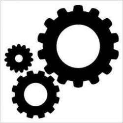 Gears clipart silhouette