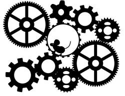 Machine clipart many gear