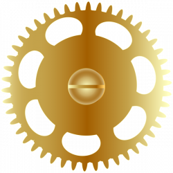 Steampunk clipart gold