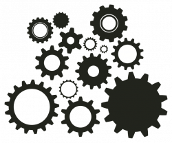 Gears clipart time clock