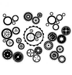 Clockwork clipart mechanical gear