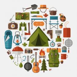 Tent clipart wilderness survival