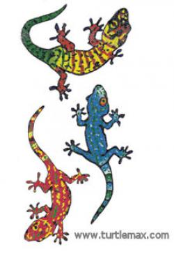 Colorful clipart gecko