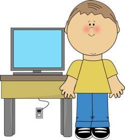 Technology clipart computer user