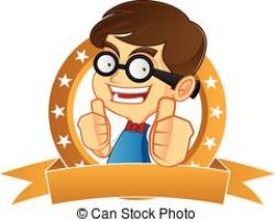 Geek clipart boy confused